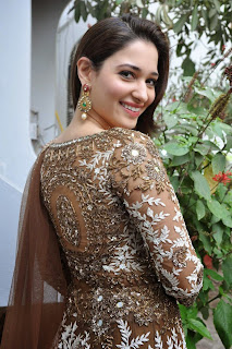 Actress Tamannah Bhatia Picture Gallery in Designer Dress at Bengal Tiger Movie Launch  19
