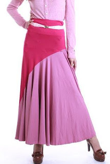 Skirt Labuh Kembang Umbrella 655 - Cherry Pink