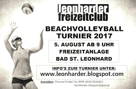 BEACHVOLLEYBALL TURNIER IN BAD ST. LEONHARD