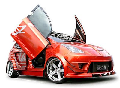 Red Body Painting Honda Jazz