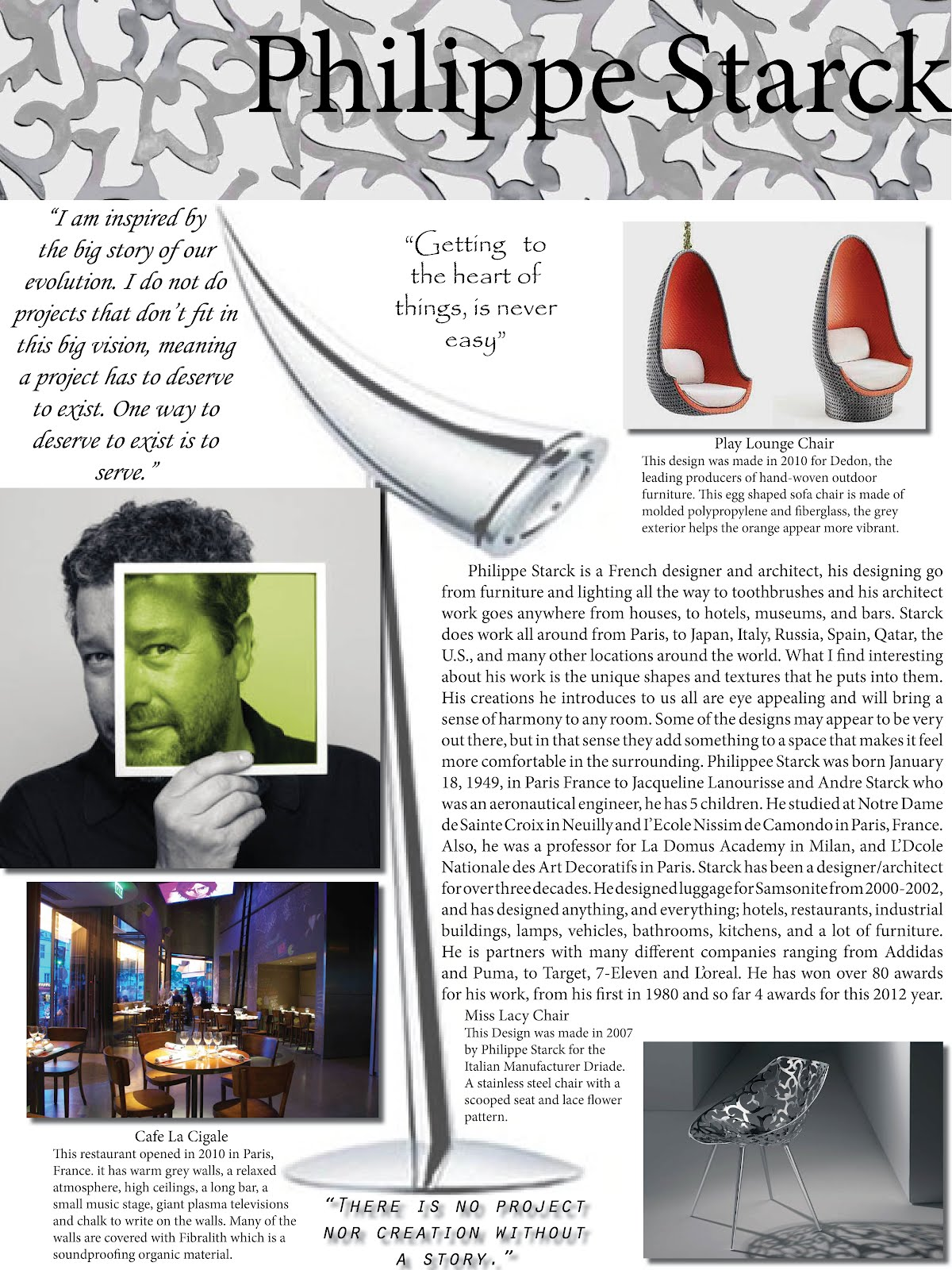 K h designs philippe starck for Philippe starck work