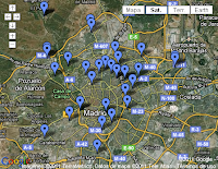 Google Maps pistas padel Madrid