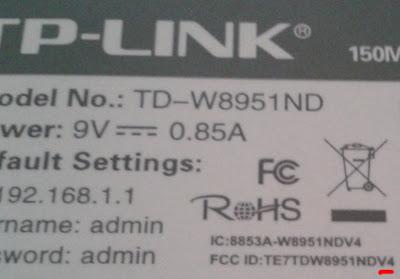 Versi modem TP-Link