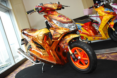 honda beat modifikasi airbrush