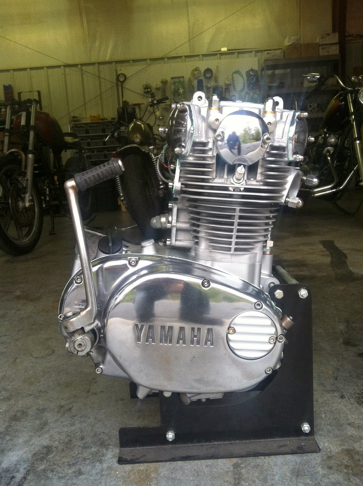 hugh 39 s handbuilt for sale 700cc rephased xs650 engine ready to go. Black Bedroom Furniture Sets. Home Design Ideas