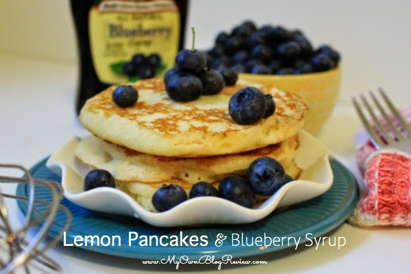 Lemon Pancakes with Blueberry Syrup using Greek Yogurt on www.MyOwnBlogReview.com #PriceChopperB2S #CollectiveBias