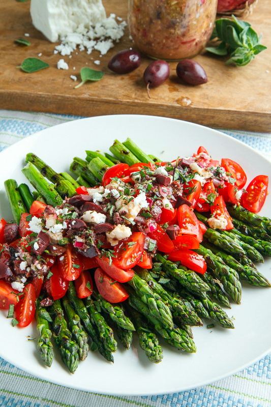 ... Asparagus and Tomatoes in a Kalamata Olive and Feta Vinaigrette
