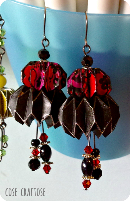 origami earrings - big