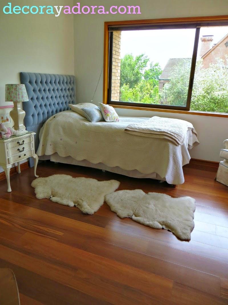 decora y adora: DIY respaldo tapizado cama/DIY upholstered hedboard