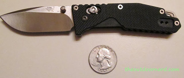 SanRenMu GB-763 Pocket Knife - Next To Quarter