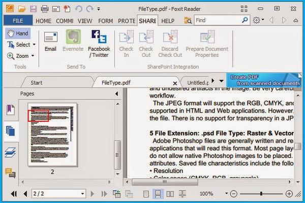 تحميل برنامج 2015 Foxit Reader فوكست ريدر لفتح ملفات الكتب pdf