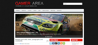 Gamer Area Blogger Template is a wordpress to blogger converted blogger template