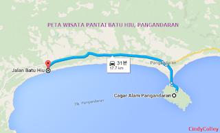 Berencana wisata ke Pangandaran? eittss lihat dulu peta wisata pantai Pangandaran ini!!!