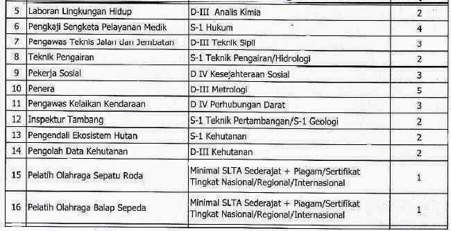Formasi CPNS 2013 Provinsi Jawa Tengah