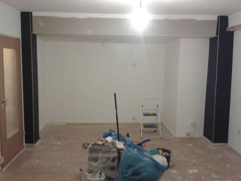 selber machen entstehung eines wohnzimmers 2 die w nde. Black Bedroom Furniture Sets. Home Design Ideas