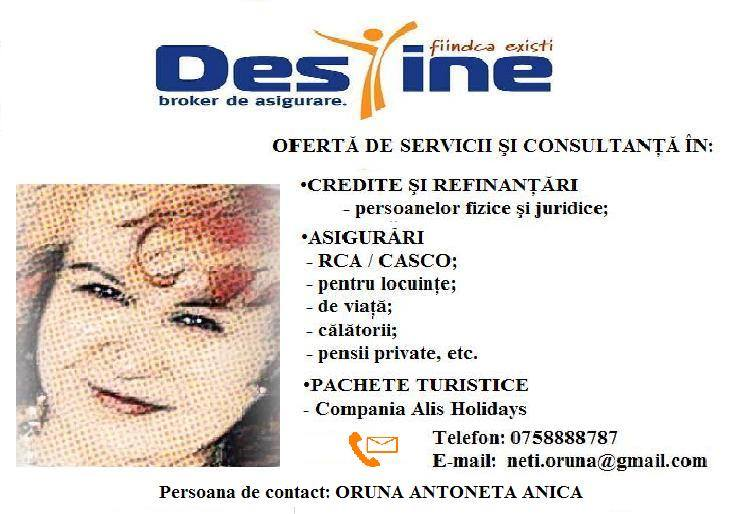 Oferta de servicii si consultanta