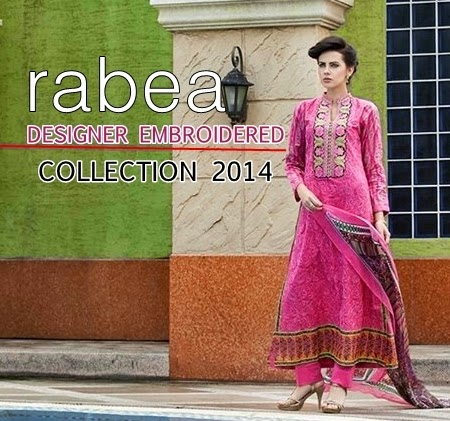 Rabea Designer Embroidered Collection 2014