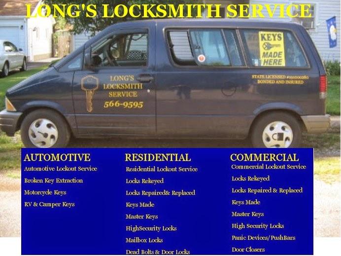 Long's Locksmith Service Van