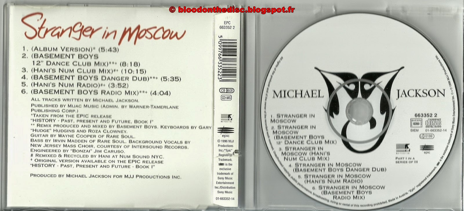 Stranger In Moscow Maxi CD