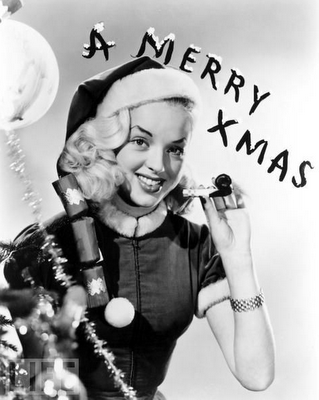 actresses during christmas time black white photos - Actresses In White Christmas