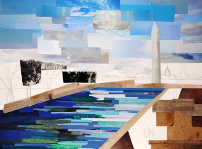 DC Reflections by collage artist Megan Coyle