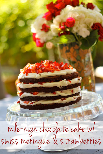 My 34th Birthday, Part 2: Mile-High Chocolate Cake with Swiss Meringue ...