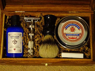 shave kit rosewood heavy razor boar brush