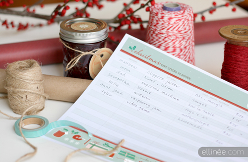 Printable Christmas Organzing Check List