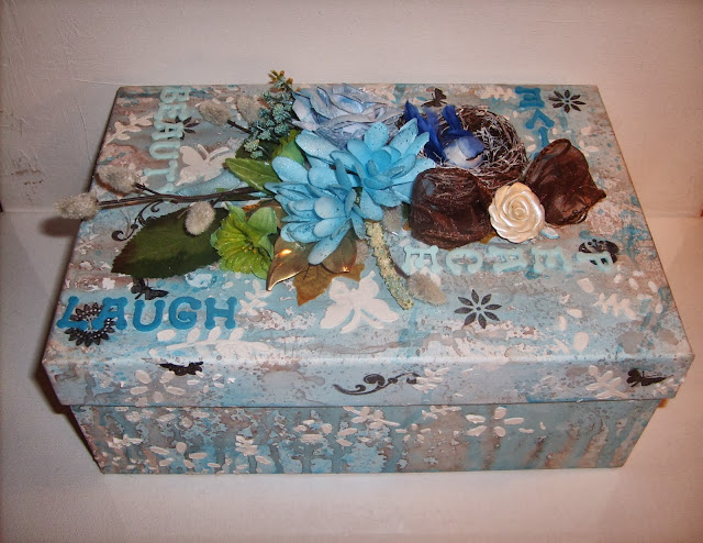 Altered Box: Loving Blue, Brown and Green