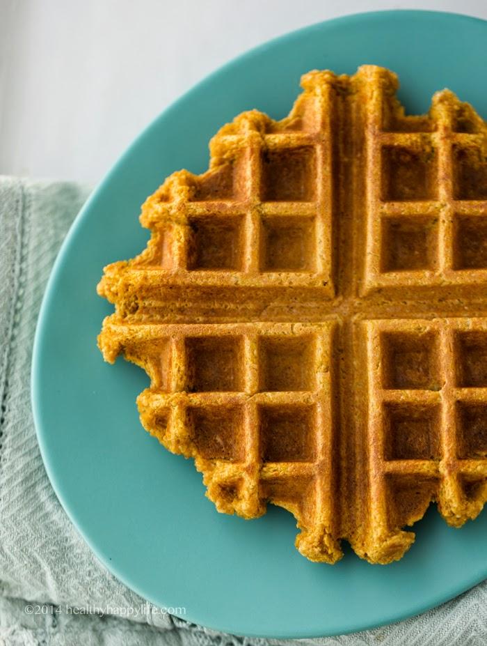 Vegan Pumpkin Waffles. Freezer-Friendly! (GF)