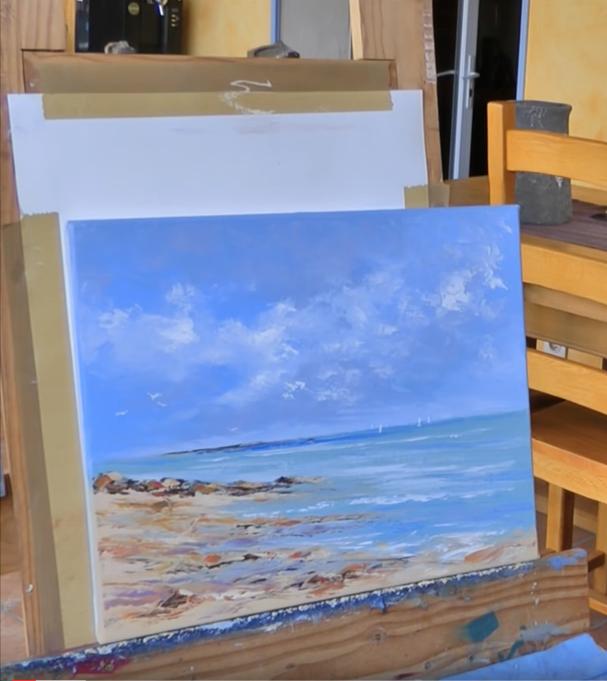 Première partie: Atelier peinture au couteau