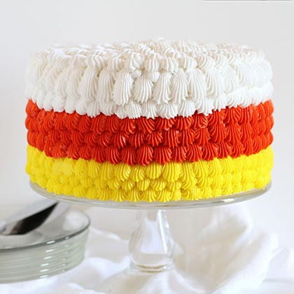 Candy Corn Cake {cake decorating tutorial}