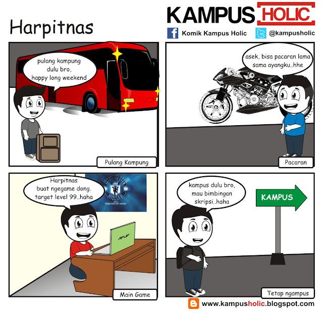 #072 Harpitnas hari kejepit nasional ala mahasiswa komik kampus holic