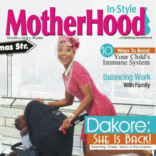 Dakore covers Motherhood Magazine