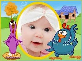 Montagem de fotos para o dia das crianças Galinha Pintadinha