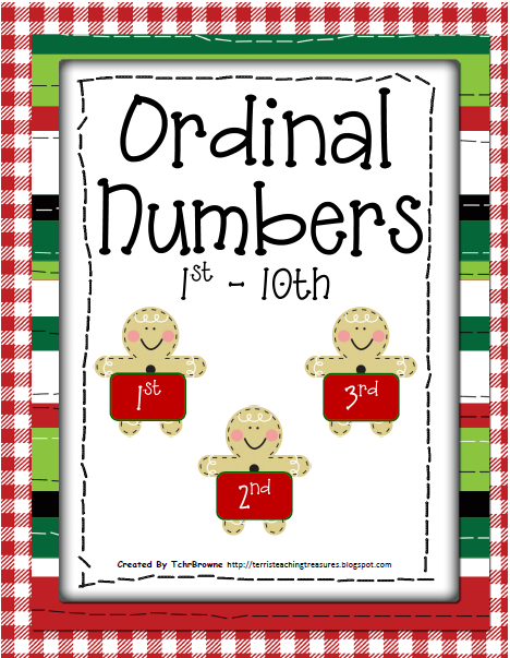 http://www.teacherspayteachers.com/Product/FREE-Christmas-Ordinal-Numbers-Activities-170964