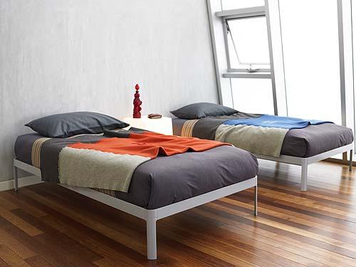 Muebles azteca camas y literas for Cama individual blanca