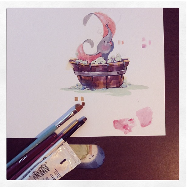 disney dumbo watercolor