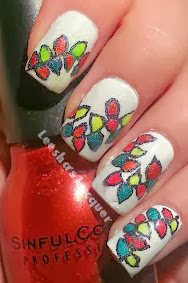 Leeshas Lacquer Hopping On The Christmas Nail Art Train Choo Choo