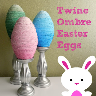 DIY Twine Ombre Easter Eggs
