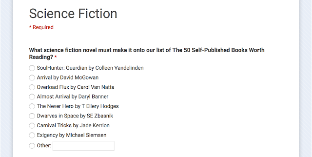 http://www.readfree.ly/vote-for-the-50-self-published-books-worth-reading-2015-science-fiction/#votehere