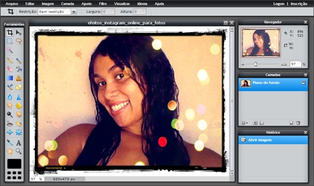 interface do photoshop online