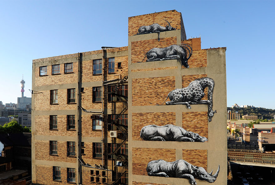 These 30+ Street Art Images Testify Uncomfortable Truths - Animals In The Zoo