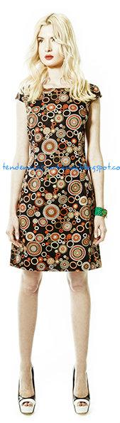 vestido de moda corto estampado