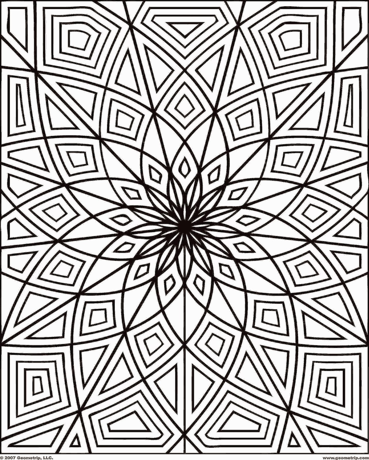 Printable coloring pages for adults free coloring sheet for Adult color pages
