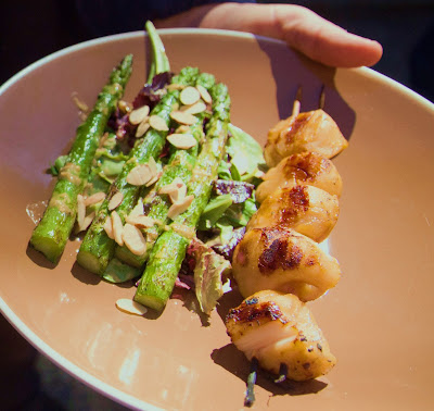 ... Miso-Glazed Scallops with Asparagus Salad and Sesame-Ginger-Miso
