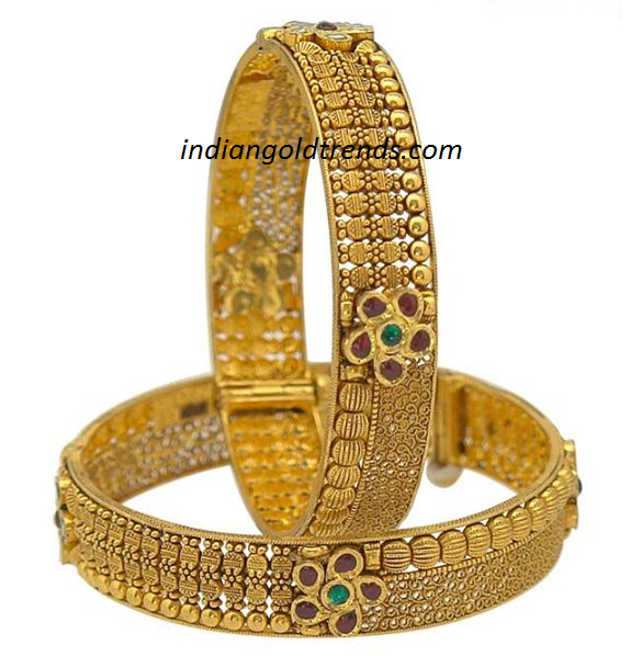 Latest Trend Bridal Gold Diamonds Bangles 2013 Gold Design | LONG ...
