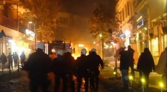 Μεταφερόμενοι κουκουλοφόροι του Σύριζα έκαψαν την Ξάνθη: Οργή κατοίκων για τους βουλευτές της Αριστεράς που οργάνωσαν την αντισυγκέντρωση