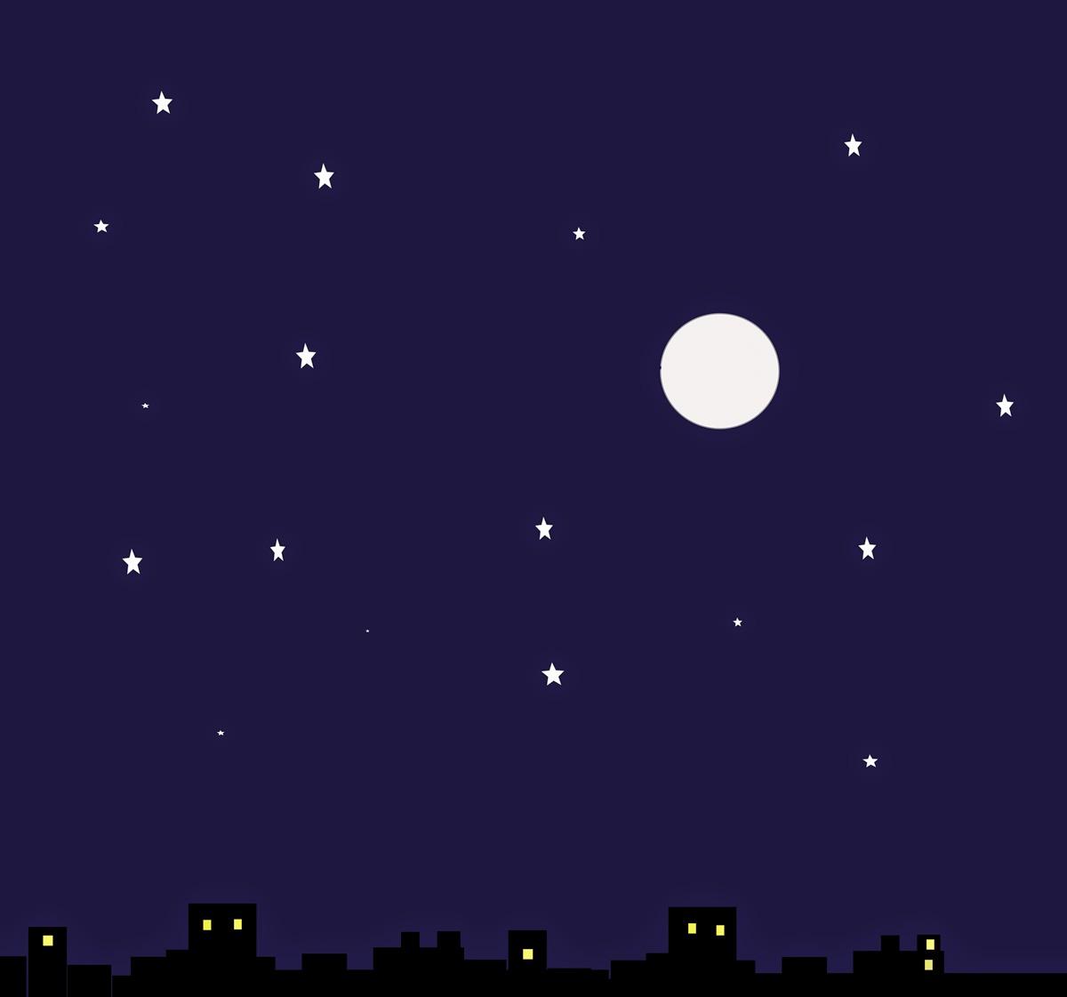 Night, Noche, Nit, Nuit, Nacht, 夜