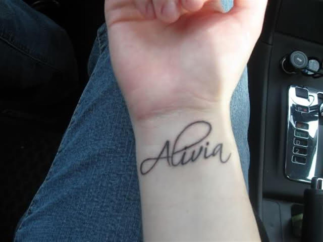 Inner Wrist Name Tattoo